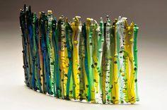Prairie Glass Studio - #gallery #glass #art #green #yellow #blue
