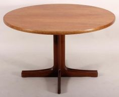 Danish Teak Dining Table, C. 1960 With 2 Leaves.
