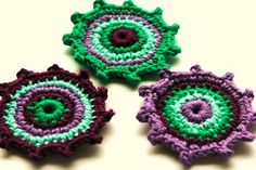 Purple and Green Embellishments | AnnieDesign | Flickr
