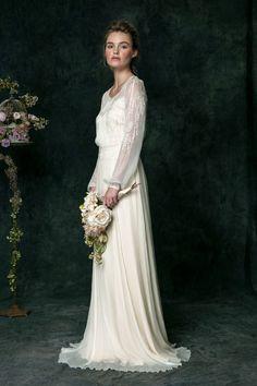 Long sleeved dress - Saja Wedding 2016 wedding dresses | http://www.itakeyou.co.uk/wedding/ #weddingdress