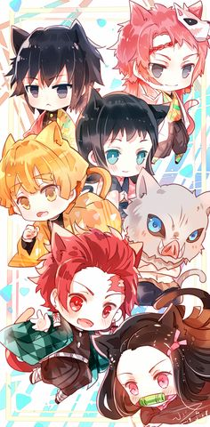 Kimetsu no Yaiba Chibi Otaku Anime, Art Anime, Anime Meme, Anime Boys, Manga Anime, Chibi Wallpaper, Wallpaper Animes, Cute Anime Wallpaper, Animes Wallpapers
