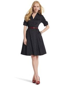 I love shirt dresses. I love polka dots. I would wear the sh*t out of this to work.