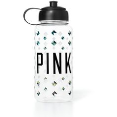Victoria's Secret PINK Water Bottle (40 RON) ❤ liked on Polyvore featuring accessories, sports, food, water bottles, extras and studs