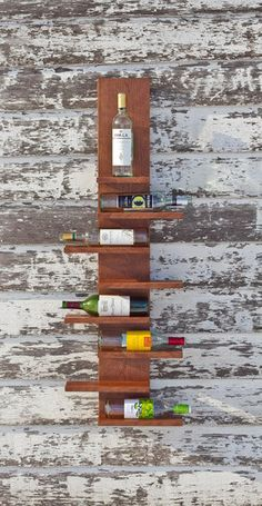 Hanging Wine Rack! I think Mike could make this...