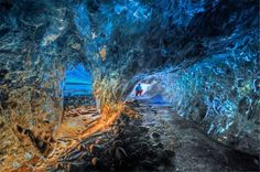 About 200 British tourists annually brave the network of caves in Europe's largest glacier mass in the south of Iceland Ice Cave Iceland, Iceland Travel, Run Tour, Cave Tours, Travel Expert, Photography Tours, Fantasy Landscape, What A Wonderful World, Wonders Of The World