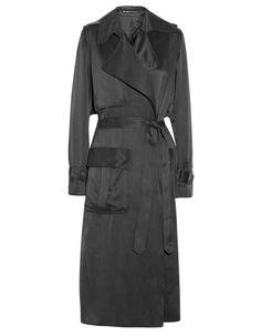 Michael Lo Sordo Washed Silk-Satin Trench Coat