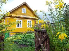 The old renovated house somewhere in Finland. Wooden Buildings, Wooden House, House In The Woods, Traditional House, Scandinavian Design, Countryside, Sustainability, Cottage, House Design