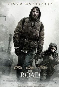 The Road - Directed by John Hillcoat. With Viggo Mortensen, Charlize Theron, Kodi Smit-McPhee, Robert Duvall. In a dangerous post-apocalyptic world, an ailing father defends his son as they slowly travel to the sea. Viggo Mortensen, La Route Film, Love Movie, Movie Tv, Film Science Fiction, Fiction Books, Guy Pearce, Robert Duvall, Films Cinema