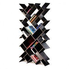 52 Simple Bookshelf Design Ideas That are Popular Today - Home-dsgn Simple Bookshelf, Creative Bookshelves, Bookshelf Design, Bookshelf Diy, Modern Bookshelf, Unique Shelves, Billy Regal Hack, Articles En Bois, Home Furniture