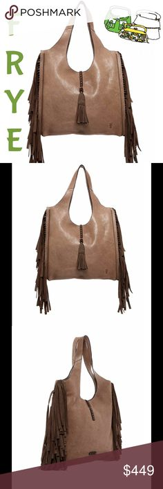 Farrah Fringe Leather Shoulder Bag Color is grey.  This bag is beautiful!  Timeless. ❤❤. Frye Bags