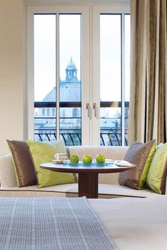 Spacious guestrooms open onto living areas with French balconies. Rocco Forte The Charles Hotel (Munich, Germany)  - Jetsetter
