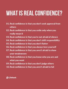 Real Confidence Isn't Like What Most People Think Of