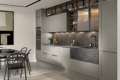 A contemporary take on the classic shaker, the Hunton is an unassuming one-piece design that will 'wow' guests with its aesthetics.  Open shelving and full height larder units ensure that style isn't at the expense of storage, especially with the smaller footprint of the design. It's a sophisticated look which will appear at home in any modern or traditional setting.  Visit our website or email info@pentlandkitchens.com today to discuss your kitchen needs. #secondnature #hunton…
