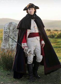 Aidan Turner as Captain Ross Poldark in his regimentals Bbc Poldark, Poldark 2015, Demelza Poldark, Poldark Series, Ross Poldark, Poldark Books, Will Turner, Aiden Turner, Adrian Turner