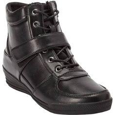 Comfortview Sam Sneaker Booties by Comfortview - Wide Width 10 WW Black