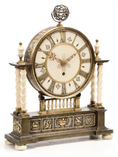 Edward F. Caldwell Co - A Renaissance Revival Gilt and Patinated Bronze and Ivory Table Clock, circa - Sotheby's
