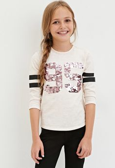 Sequin Graphic Tee (Kids) | Forever 21 girls - 2000145973