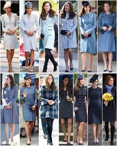 Kate's blue and navy coats  Kate has said that blue is her favourite colour