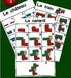 Gratis te downloaden stappenplannen voor lego, duplo.  Klik op een voorbeeld en het stappenplan wordt geopend. Lego Duplo, Lego Math, Play Based Learning, Kids Learning, Legos, Lego Therapy, Modele Lego, Construction Lego, Lego Activities