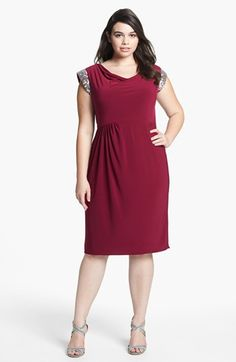Alex Evenings Embellished Jersey Sheath Dress (Plus Size) available at #Nordstrom