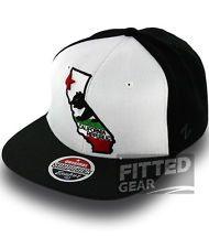 California Republic CALI BEAR WITH MAP 2 Black White Gray Zephyr Snapback  Hats 1a63f60116e9