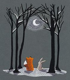 """Moonlit Winter 3 Available Sizes: 5.87""""w x 6.93""""h 4.84""""w x 5.71""""h 3.23""""w x 3.86""""h"""