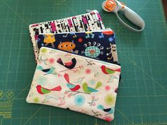 Zippered attachable pouches