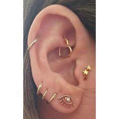 Soul Wired 16G Heart Ear Piercing ❤ liked on Polyvore featuring jewelry, earrings, rainbow earrings, wire earrings, heart jewelry, rainbow jewelry and filigree jewelry