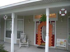 pineapple on our front garage door