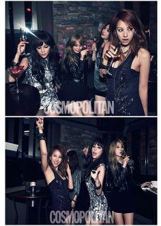 Lee Hyori, Park Si Yeon, Ahn Hye Kyung et Maybee are « Sex&The City » for Cosmopolitan KOREA