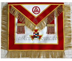 Hand Embroided Masonic Royal Arch Past Master Apron Grand Lodge, High Priest, World Images, Freemasonry, Custom Metal, Past, Aprons, Embroidery, Holiday Decor
