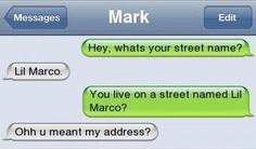 Street name.