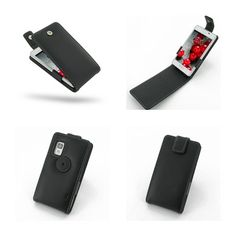 PDair Leather Case for LG Optimus L5 II E450 - Flip Top Type (Black)