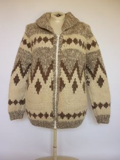 Vintage COWICHAN Hand Knit Sweater / Jac by decotodiscovintage