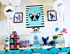 """Mustaches / Little Man / Dog/Puppy Party """"""""PUPSTACHIO"""" DOGGIE BIRTHDAY PARTY!"""" 