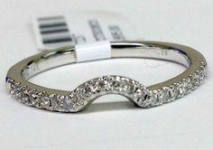 White Gold Diamond Solitaire Wrap Ring Solitaire Enhancer Curve Contour Band (0.16ct. tw)- RG331398266776