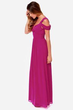 Elegant Magenta Dress - Maxi Dress - Prom Dress - Bridesmaid Dress - $81.00