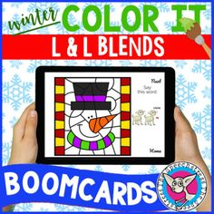 "This is a digital resource that can be accessed on the Boom Learning platform. With your purchase you will receive a PDF with a link to add these Boom Cards™ to your Boom Library.Students practice saying /L/ and /L/ blends in words to ""paint"" a winter picture piece by piece. Four pictures total (sno..."