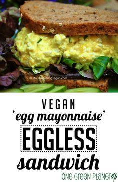 Vegan 'Egg Mayonnaise' (Eggless Egg Salad) Sandwich http://onegr.pl/1jR22K7 #veganize #recipe