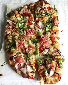 Pizza Bianca with Artichokes and Prosciutto