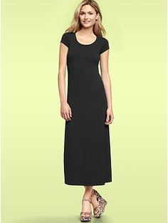 I like this.... now if I was just thin enough to pull it off, I would do it!   (T-shirt maxi dress | Gap)