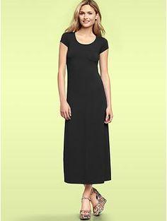 T-Shirt Maxi Dress (True Black). Gap. $59.95