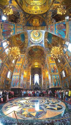 Inside look at the Church of Our Savior on Spilled Blood    Photographer: Alexander Shevtsov