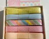 ensemble rubans couleur pastel