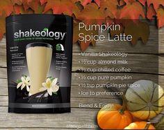 Pumpkin Spice Latte Shakeology Recipe