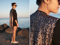 DIY sequin blazer by apairandaspare, via Flickr