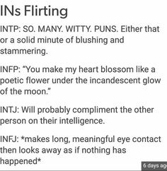 OMGosh, INFJ though. I thought that was just my weird thing, but apparently not.