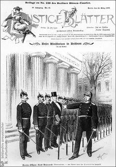 Lustige Blätter, Bd. 4, Nr. 13 (28. März 1889). Reading Cartoon, Nation State, Second Empire, Military Style, World War I, Heavens, Comedians, Caption, Germany