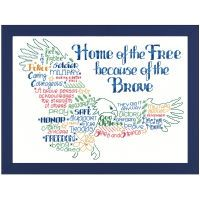 Let's Be Brave Counted Cross Stitch Kit