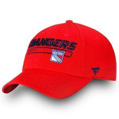 9fb02628aab98f New York Rangers Fanatics Branded Authentic Pro Rinkside Fundamental  Adjustable Hat Red. NHL Caps & Hats
